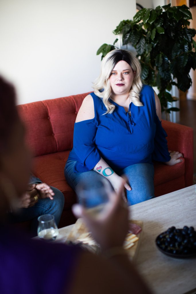 Photo featuring plus-size model by Michael Poley of Poley Creative for AllGo, publisher of free stock photos featuring plus-size people